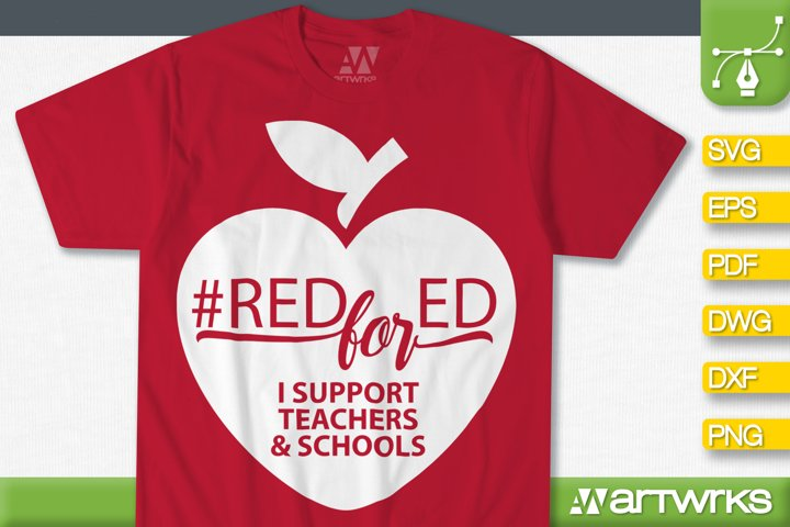 Red for ed SVG files for Cricut | #Red For Ed SVG