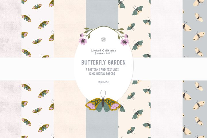 Hand-drawn floral frame clipart| Cute flowers boho clipart