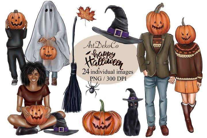 Halloween Cliparts, Halloween Planner, Halloween Stickers