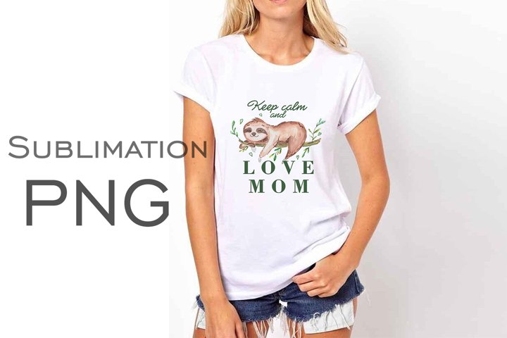 Sublimation PNG file Sloth, watercolor sloth png, animal png