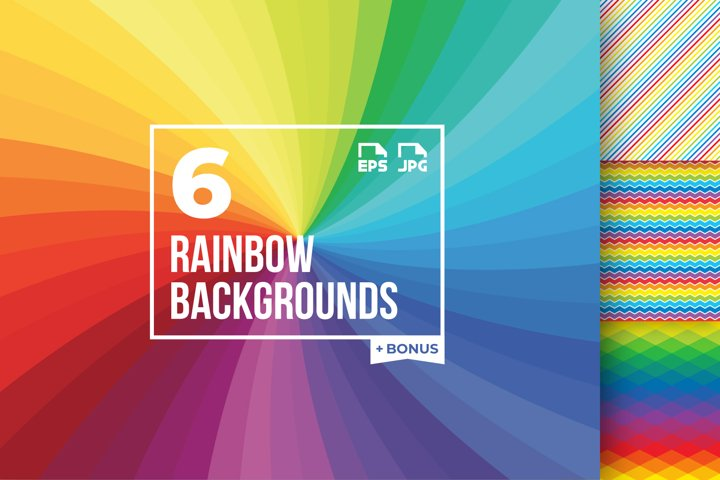 6 rainbow backgrounds