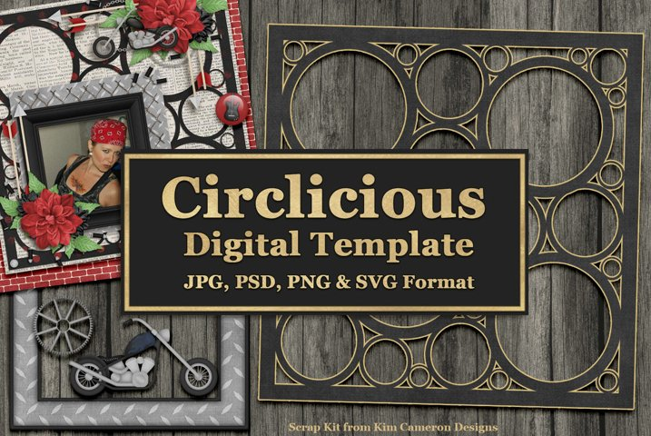 Circlicious Digital Template and Cuttable