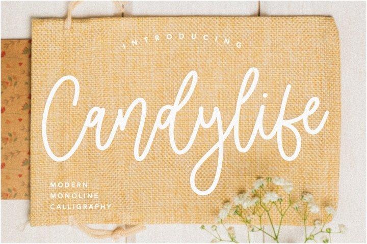 Candylife Modern Monoline Calligraphy Font