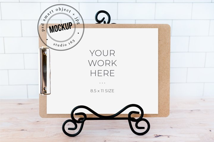 Clipboard Mockup | JPG and PSD Smart Object
