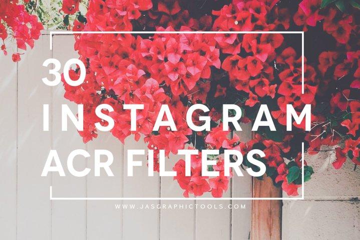 30 Instagram Filters ACR&ATN Presets