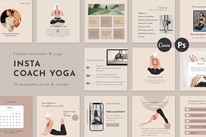 Instagram Canva Templates More Engagement | yoga coach