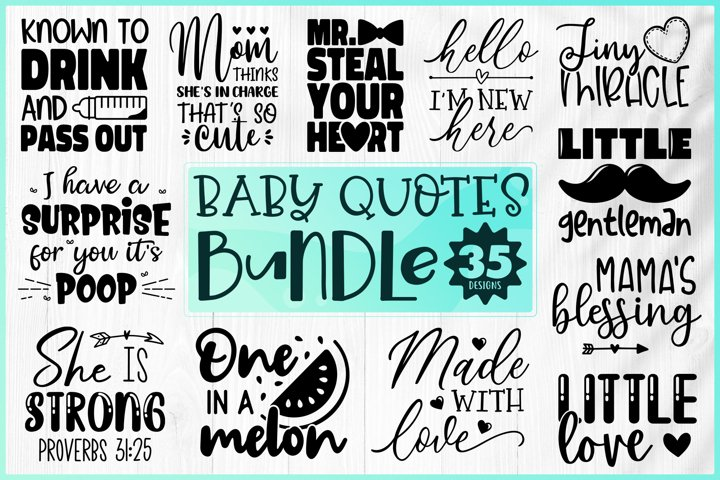 Baby Bundle SVG - Baby Quotes Bundle SVG - Cute Baby Bundle