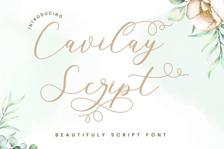 Cavilay Script - Wedding Font