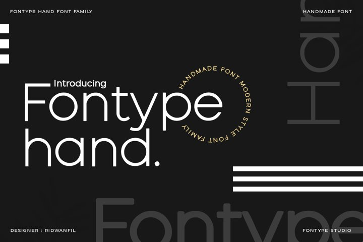 Fontype Hand - Handmade Font Modern Style
