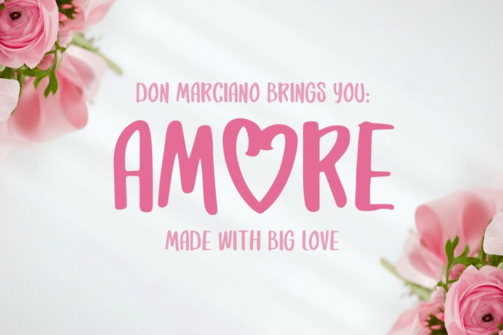 Amore Strong Lovable Font