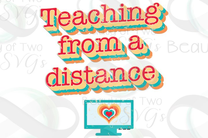 Teaching from a distance png, Online teaching Sublimation
