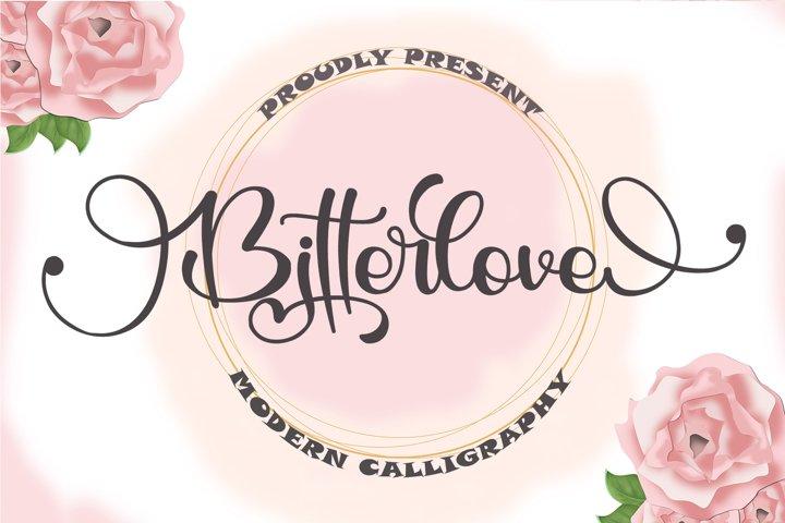 Bitterlove - Modern Calligraphy