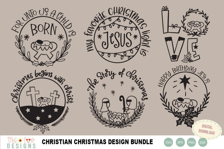 Christian Christmas quote bundle SVG, nativity christmas