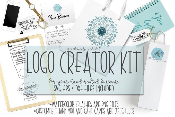Handmade Logo Creator Kit- SVG, EPS, DXF, PNG