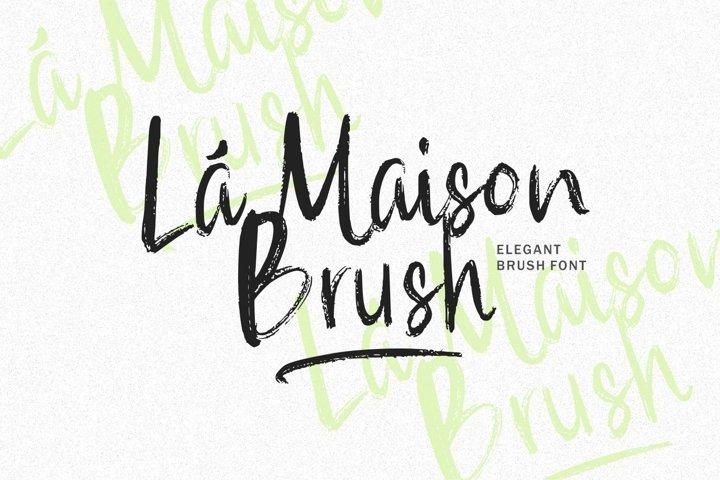 Web Font - La Maison Brush