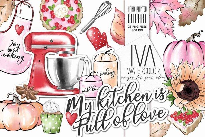 Kitchen Thanksgiving Autumn Clipart