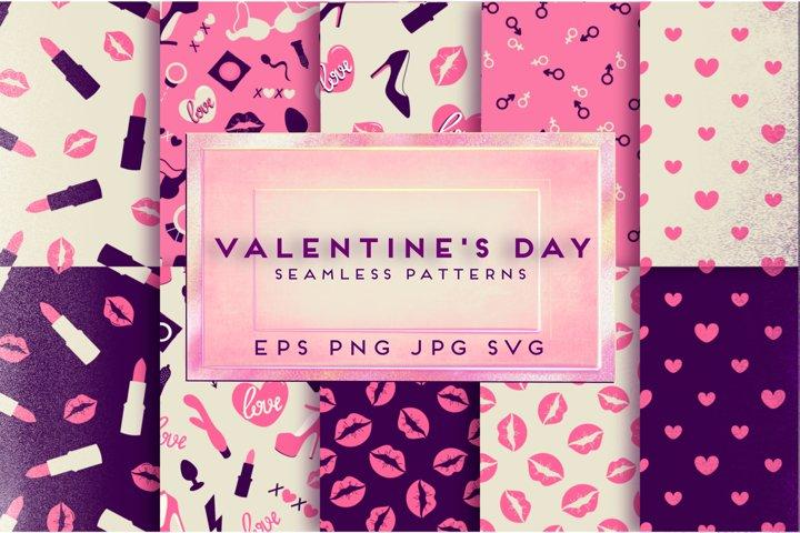 Download Free Svgs Download Valentine S Day Pattern Love Pattern Digital Paper Free Design Resources
