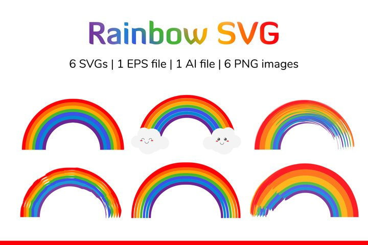 Rainbow SVG, EPS, AI, PNG