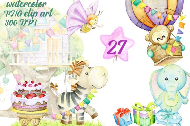 Birthday Clipart, Birthday Graphic, Planner Accessories,