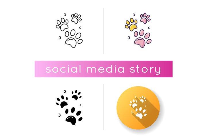 Pet paw prints icon