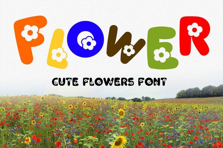 Flower Font - Fancy Decorative alphabet