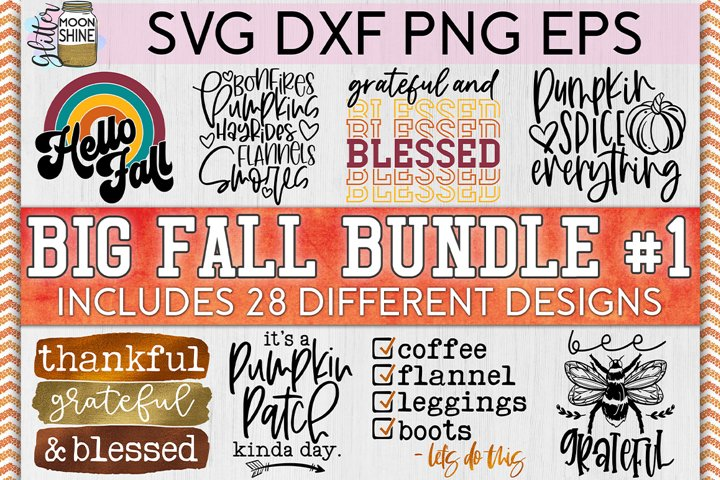 Big Fall Bundle of 28 #1 SVG DXF PNG EPS