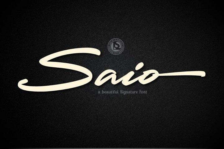 SAIO - Signature Font