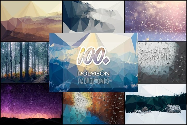 100 Polygon Backgrounds