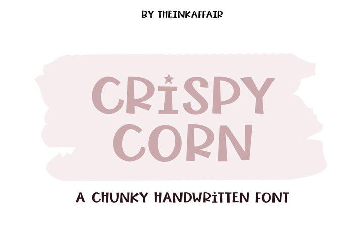 Crispy Corn, a chunky handwritten font