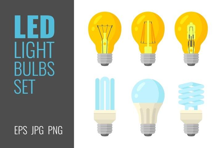 LED light bulbs set