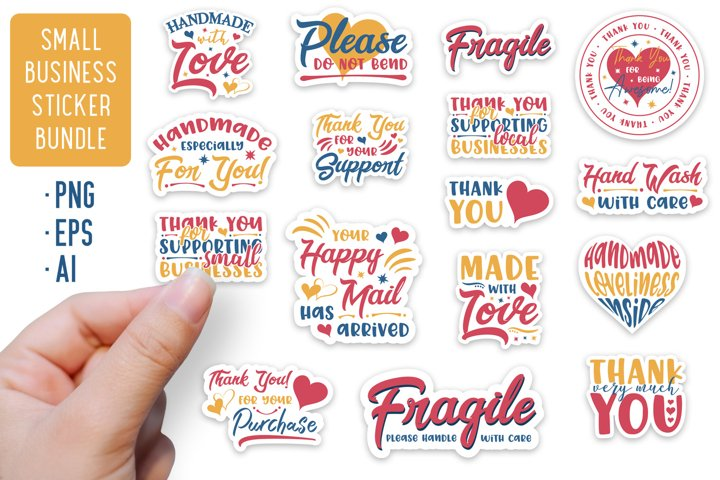 Small Business Stickers Bundle | 16 Packaging Stickers