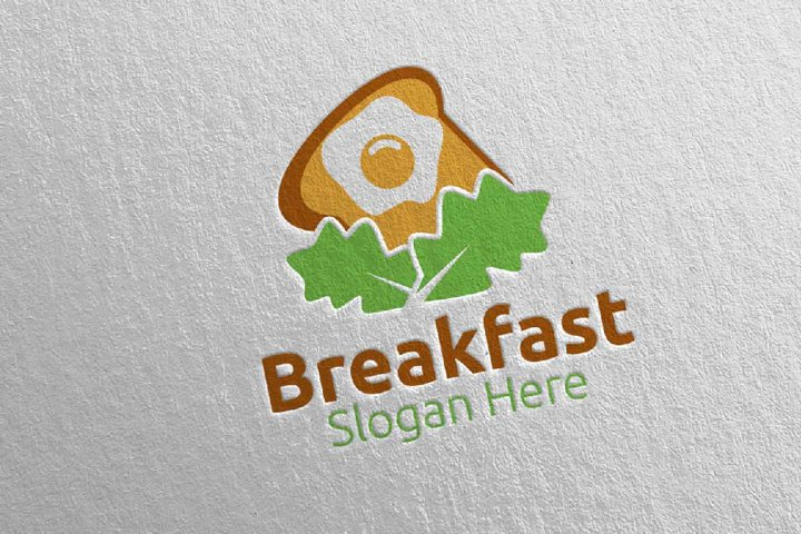 Breakfast Fast Food Delivery Logo 12