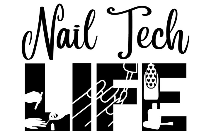 Nail Tech Life SVG Cutting File for the Cricut