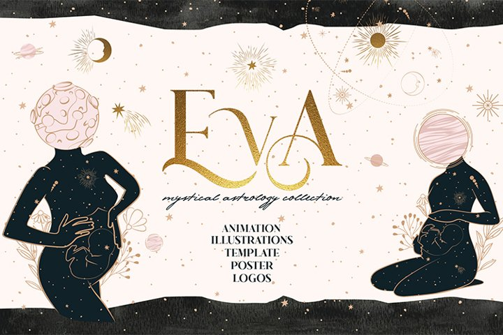 Eva animated mystical and astrology collection