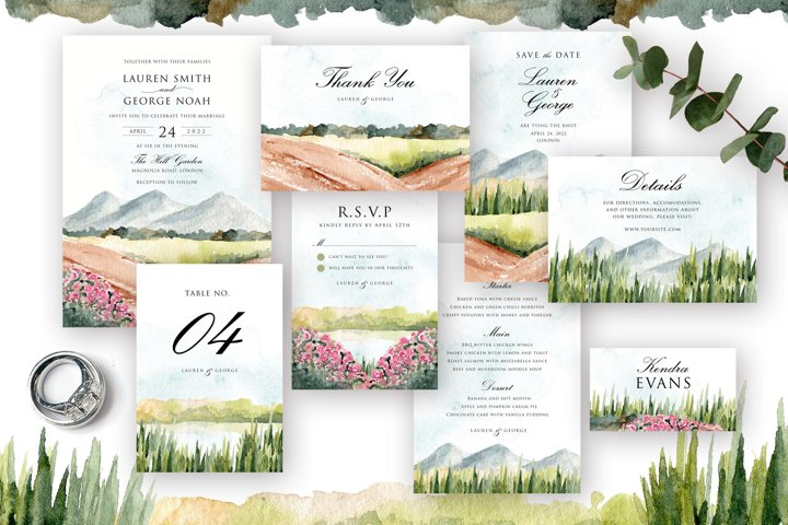 Nature Landscape Wedding Suite