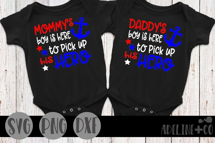 Here to pick up his hero bundle, SVG, PNG, DXF, mommy, daddy