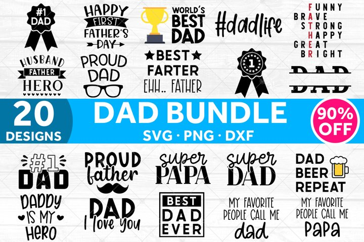 Fathers Day SVG Bundle | Dad SVG Files for Cricut