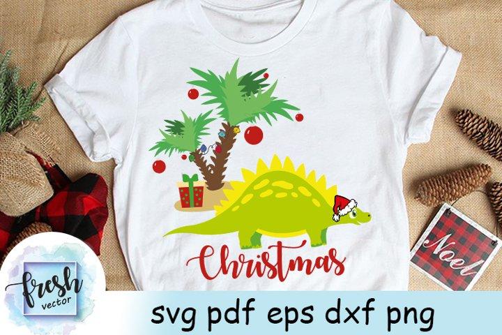 Christmas Dinosaur Svg Christmas Palm Christmas dino