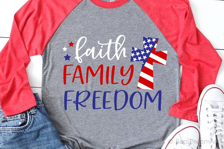 Faith Family Freedom SVG, DXF, PNG, EPS