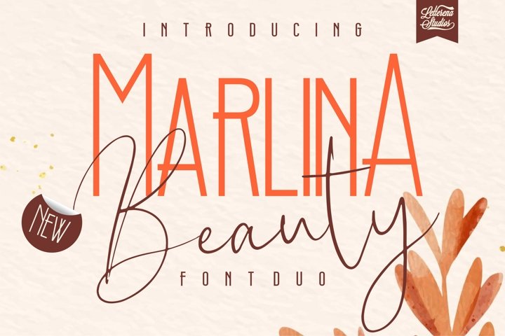 Marlina Beauty - Font Duo, Sans Serif and Signature Font