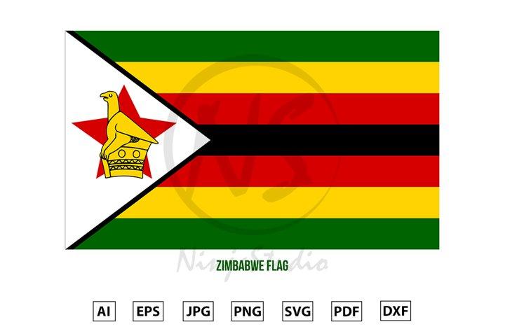 Zimbabwe National Flag Vector