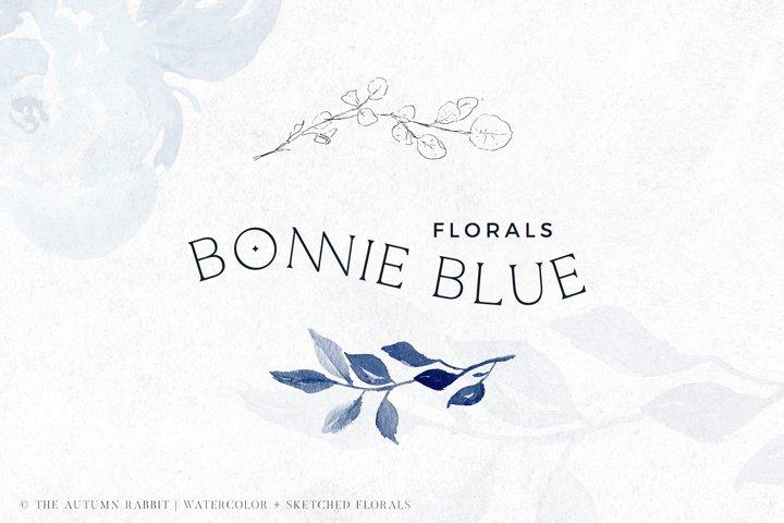 Bonnie Blue Botanical Clipart