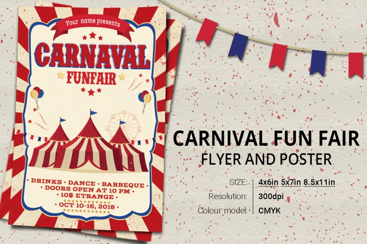Carnival Fun Fair Flyer Poster