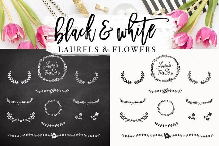Hand Drawn Laurel & Floral botanical designs