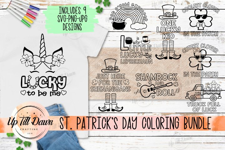 St. Patricks Day Rainbow Coloring SVG, Coloring Shirt SVG