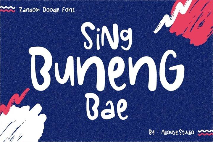 Web font - Sing Buneng Bae - Random Doodle Font