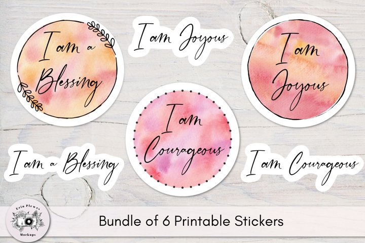 Stickers Inspirational Quotes - Joyous Courageous Blessing