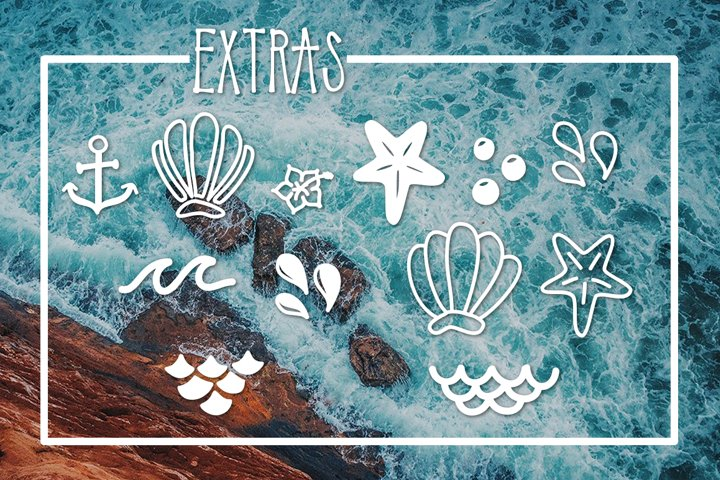 Mermaid Tails a Handwritten Typeface - Free Font of The Week Design0