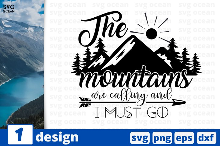 Camping SVG cut file, mountains svg for cricut