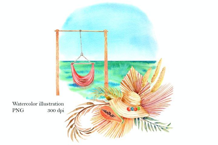 Beach Boho illustration PNG